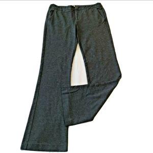 CAbi Ponte Knit Pants 10 Soft Dark Gray Boot 141L